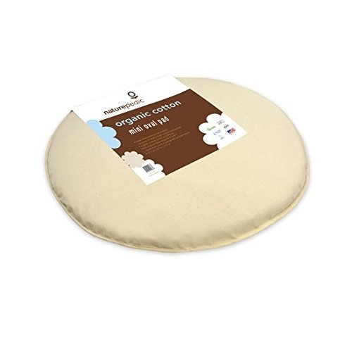 Naturepedic Bassinet Mattress MK42 Organic Cotton Bassinet Pad Oval (fits Stokke?® SleepiTM Mini ...