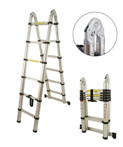 3.85M TELESCOPIC FOLDABLE  &  EXTENDABLE A FRAME MULTI PURPOSE STEP LADDER