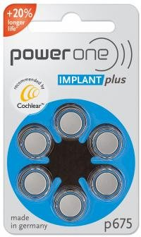 Power One Cochlear Implant Batteries! 20 Packs, Total of 120 Batteries (Implant Batteries compare prices)