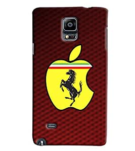 Blue Throat Ferrari With Apple Design Printed Designer Back Cover/ Case For Samsung Galaxy Note 4