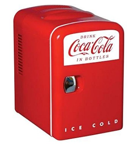 Coca Cola 0.14 cubic foot Retro Fridge in Red 0