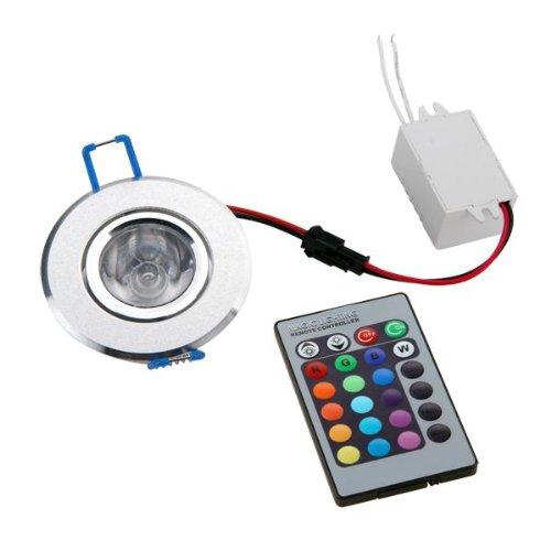 1X3W Rgb Led Ceiling Down Light Bulb Downlight High Power + Remote 230V