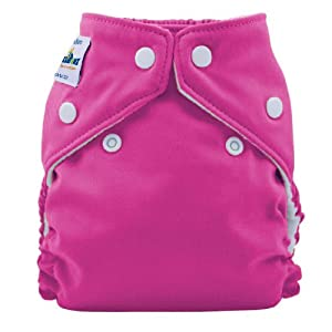 FuzziBunz Perfect Size Cloth Diaper, Crushed Berry, Large 25-40+ lbs