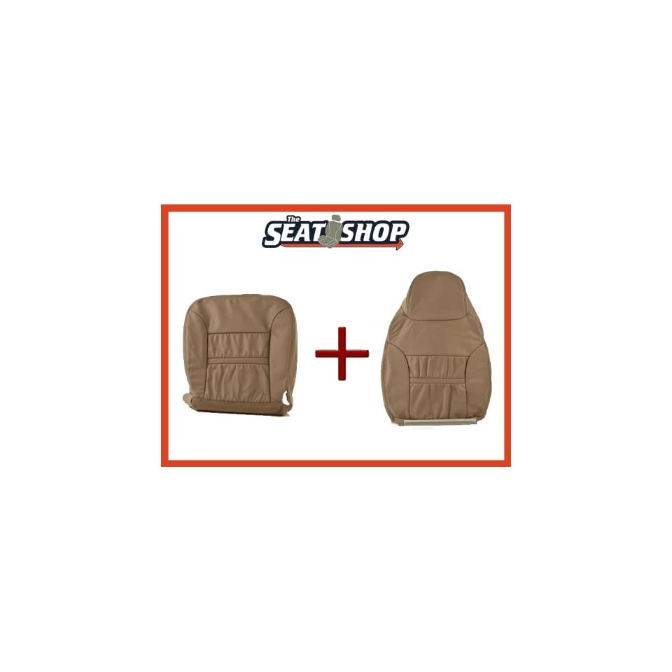 00 01 Ford Excursion Med Parchment Leather Seat Cover bottom & top LH