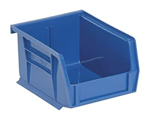 Quantum QUS210 Plastic Storage Stacking Ultra Bin, 5-Inch by 4-Inch by 3-Inch, Blue, Case of 24