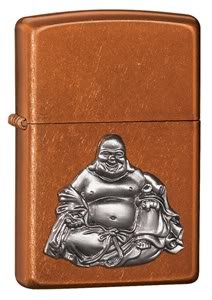 Zippo Cigarette Lighter, Buddha Emblem, Toffee, Personalised FREE, Birthday, Wedding Gift