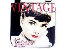 Audrey Hepburn Red Lip Retro Sling Messenger Cross Body Bag Purse
