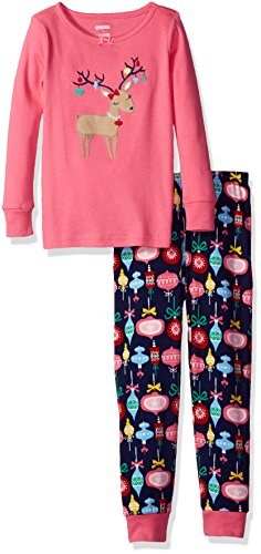 Gymboree Girls' Pink Cat Graphic Tight-Fit Pajamas