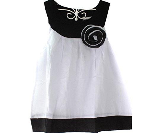 Urparcel Girls Baby Ruffled T-Shirt Tops Vest Shorts With Hat Casual White 0-3Y (1-2 Years, Black)