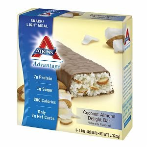 Atkins Advantage Snack Bars, Coconut Almond Delight5 Ea