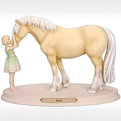 Enesco Horse Whispers Kisses Figurine, 5-Inch