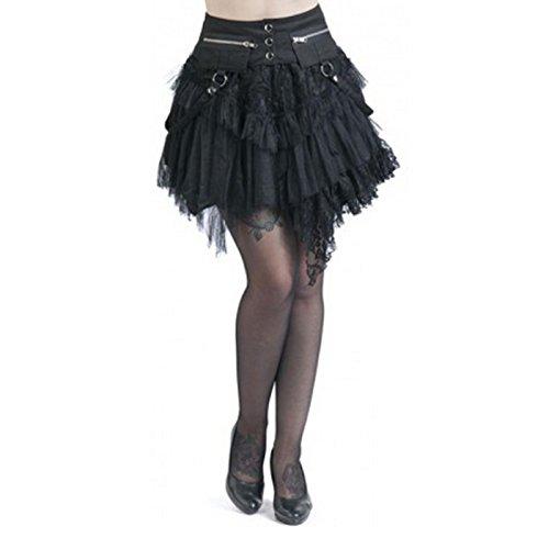 KuroNeko Cat Skirt Minigonna nero S-M