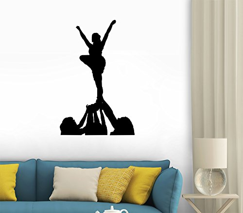 Black cheerleader wall decals group of cheerleaders 12 for Cheerleader wall mural