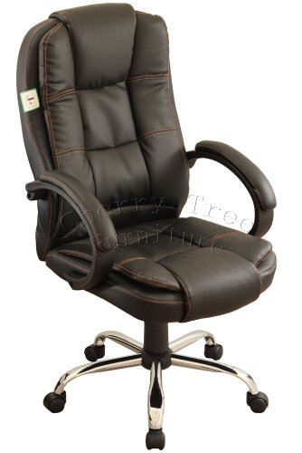 Executive High Back PU Leather Black Office Chair 14bk