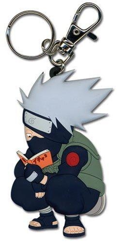 Great Eastern - Portachiavi con ciondolo Naruto Kakashi Reading The Paradise, in PVC