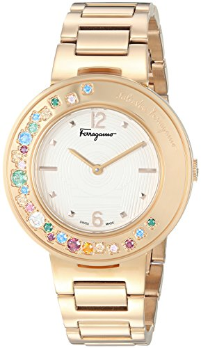 Salvatore-Ferragamo-Womens-Gancino-Sparkling-Quartz-Stainless-Steel-Casual-Watch-ColorGold-Toned-Model-FF5890015