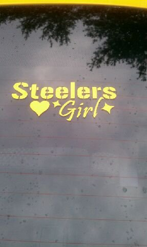 Pittsburgh Steelers Girl Car Window Decal Sticker Gold 8