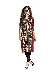 PADMiNi Ethnicwear Women's Kurti Fabric Multi-Coloured Free Size