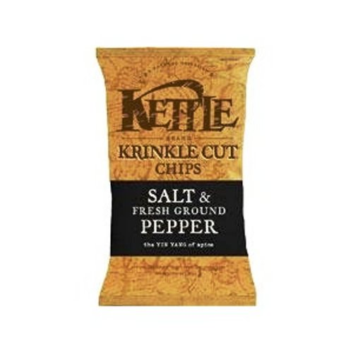 Kettle Krinkle Cut Chips, Salt & Fresh Ground Pepper, 5-Ounce Bags (Pack of 15)