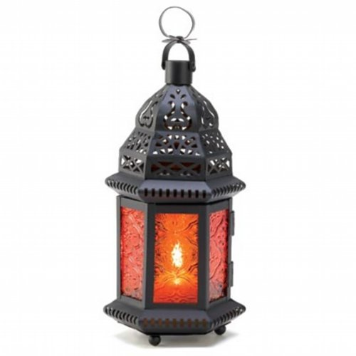 20 SUNSET AMBER MOROCCAN CANDLE LANTERN WEDDING CENTERPIECES