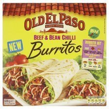 old-el-paso-beef-bean-chilli-burritos-500g