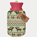 Huggable Hottie Hot Water Bottles - Pretty Fairisle Deer