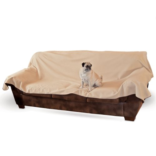 K&H Manufacturing Leather Lover'S Furniture Cover Couch, Chocolate front-809320