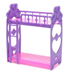 Generic Miniature Double Bed Toy Furniture For Dollhouse Decoration