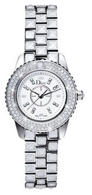 Christian Dior Women's CD112118M001 Christal White Diamond and Sapphire Watch