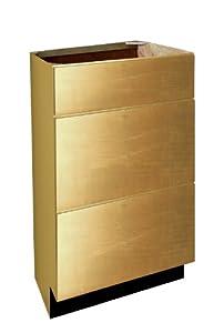 Harbor City Millwork Vb122130d3 Spnb Three Shaker Hardwood Drawer 12 Inch Base Vanity Cabinet