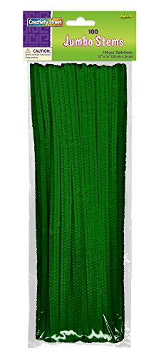 "Creativity Street Stetems/Pipe Cleaners 12"" X 6mm 100-Piecegreen"