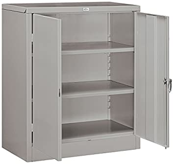 Salsbury Industries Counter Height Storage Cabinet, 42-Inch by 18-Inch, Gray