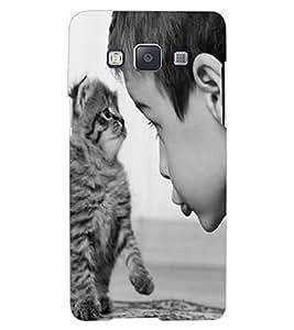 ColourCraft Cute Cat Design Back Case Cover for SAMSUNG GALAXY A7