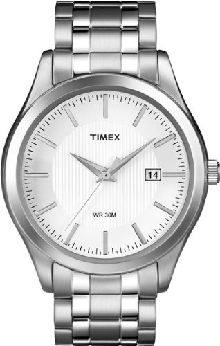 Timex Men's T2N800 Elevated Classics Dress White Dial Two-Tone Bracelet Watch