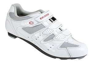 Exustar 71032 Cycle Racing Shoes - White, EU 41
