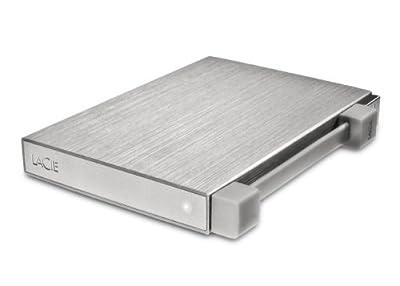 LaCie Rikiki GO Portable 1TB Hard Drive USB 2.0 - Silver by Lacie
