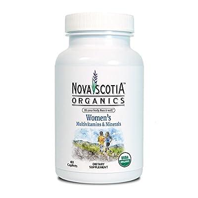 Nova Scotia Organics, Women's Multivitamins & Minerals, USDA Certified Organic, 60 easy to swallow caplets