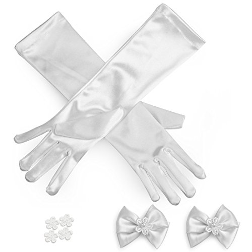 kilofly-Satin-Child-Size-Long-Formal-Gloves-DIY-Matching-Bow-4-Flower-Patches