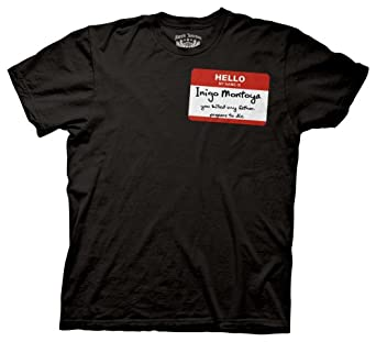 Ripple Junction Men's Princess Bride Hello My Name Is Men's Tee,Black,Small