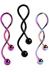 Spiral Navel Ring PVD Plated (Sold Individually) & FREE ITEMS