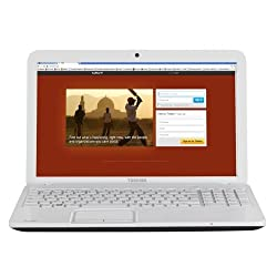 Toshiba C855-2D1 Intel Core i3 Processor, 6Gb RAM, 640Gb Hard Drive, 15.6 inch Laptop - White
