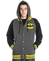 DC Comics Batman Letterman Mens Hoodie