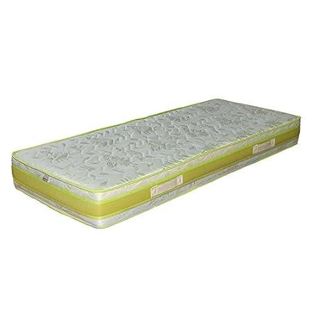 Materasso Waterfoam Poliuretano 160x190 espanso H20 ortopedico antiacaro antibatterico+ 2 cuscini 1oo% memory