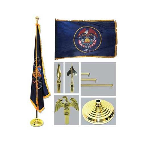 Utah 4Ft X 6Ft Flag Telescoping Flagpole Base And Tassel