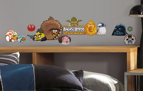 Roommates RMK2164SCS Angry Birds Star Wars Peel  and  Stick Wall Decals - 1