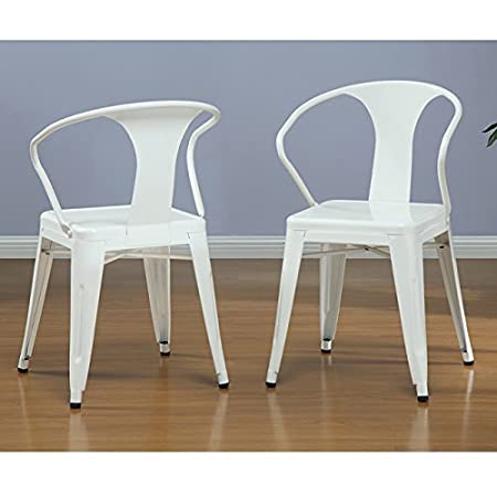Metro Shop White Tabouret Stacking Chairs (Set of 4)--
