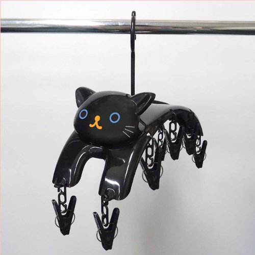 Clothespin hanger Black Cat [Toy]