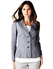 Per Una Linen Blend 3 Button Jacket