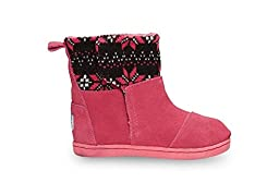 Toms Tiny Toddler Nepal Boot in Hot Pink Knit Flake 8