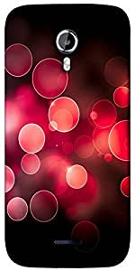 Snoogg Red bubbles Designer Protective Back Case Cover For Micromax A117